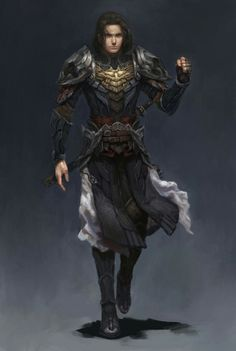 Human Male Fighter - Art by ?
