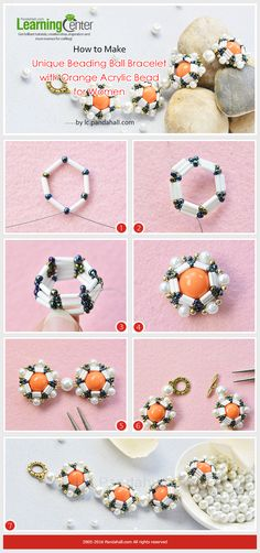 How to Make Unique Beading Ball Bracelet with Orange Acrylic Bead for Women from LC.Pandahall.com