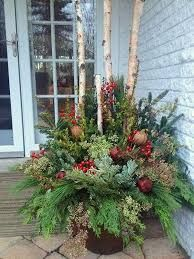Image result for Christmas decorations with galvanized buckets and spruce boughs