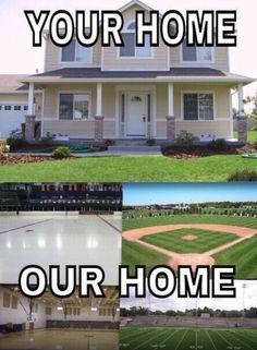 The softball field!!!