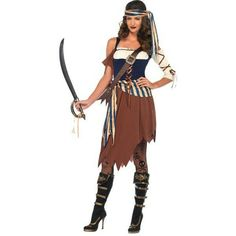 Caribbean Castaway Pirate costume: Party City