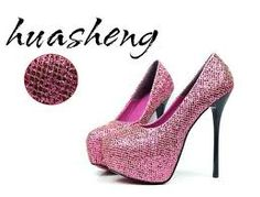 Pink glitter party shoes !