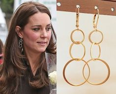 Kate Middleton Inspired Circle Link Earrings Gold by tudorshoppe $19 #catherinethegreatstyleicon
