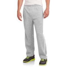 Side Stripe Big Men's Fleece Pant, Size: 2XL, Gray