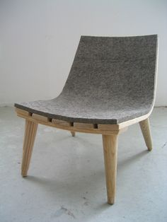 Felt Chair - Bookhou - i dont like how the slats are connected
