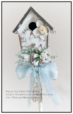 Birdhouse-4-Katarina-Damm-Blomberg - If I had Design Memory Craft products, I could make this!