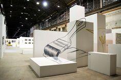 """""""Graffiti Site Specific"""" for Architettura in città 2013 by Truly Design, via Behance"""
