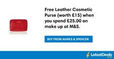 Free Leather Cosmetic Purse (worth £15) when you spend £25.00 on make up at M&S. at Marks & Spencer