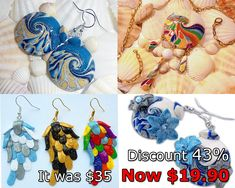 4 detailed tutorials with 43% discount! Tutorials, how to make earrings and pendants out of polymer clay. Step by step. If you buy these tutorials you get: 4 PDF file with 804 photos + 1 JPG file for wings earrings - figure scheme in which you collect a neat and beautiful