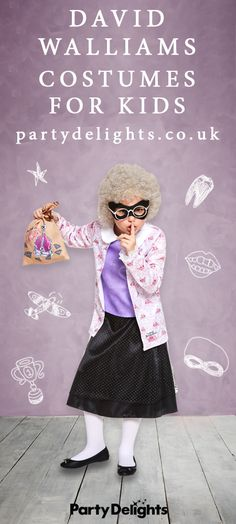 From Gangsta Granny to Awful Auntie, find a fancy dress costumes based on your favourite David Walliams character right here! They're perfect for World Book Day costumes. Book Costumes, World Book Day Costumes, Book Week Costume, Costume Ideas, Book Characters Dress Up, Character Dress Up, Book Character Costumes, Gansta Granny Costume, David Walliams Books