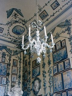 Blue and white majesty from a corner of Schonbrunn Palace in Vienna, Austria.