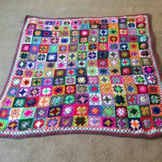 This cosy, homely blanket is made out of left over scraps of dk weight acrylic yarn, the one in the photograph is mainly Stylecraft Special dk in over 50 different colours. It is a celebration of the classic granny square and you can make it any size you want with all the scraps you have in your stash!The instructions in the patternare for the granny square, a link to how to join them together, and for the border pattern. I haven't included specific colours or yardage as this depends on…