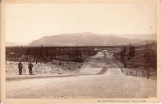 """The Boulevard, Leadville, Colorado. Photo by William Henry Jackson. (The Boulevard was the """"fashionable route"""" heading west of town to Evergreen and Soda Springs. The Boulevard appears in IRON TIES, my second Silver Rush historical mystery.)"""