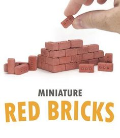 Miniature Cinder Blocks and Mini Construction Materials Diorama, Cinder Blocks, Moldings And Trim, Construction Materials, Red Bricks, Scale Model, Tabletop, Skateboard, Deck