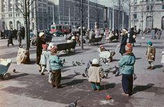 Warszawa, Plac Konstytucji, fot. Deutschefotothek (1956)