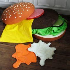 How fun is this hamburger cushion!