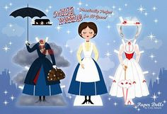 """Mary Poppins in celebration of """" Saving Mr. Banks"""". another darling creation by Cory Jensen."""