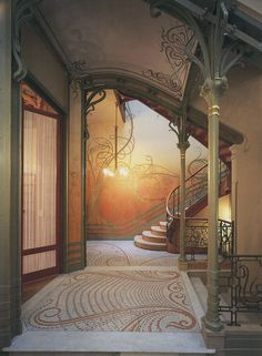 Victor Horta-Tassel House, Entrance Hall. Bruxelles in 1893