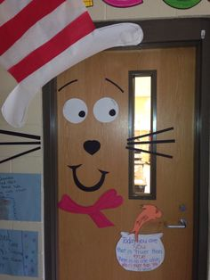 Dr Seuss read across America door decoration