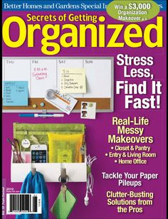 I love organizers and being organized. I can't believe there is a magazine. So amazing! - Stephanie