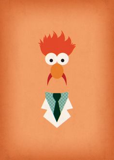 Printable Art The Muppets Show Beaker Muppet Party por TheRetroInc
