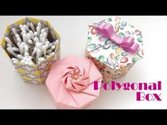 Five Paper Origami Box Box Origami, Origami Box With Lid, Origami Bowl, Origami And Kirigami, Origami Easy, Cardboard Crafts, Paper Crafts, Quilling, Useful Origami