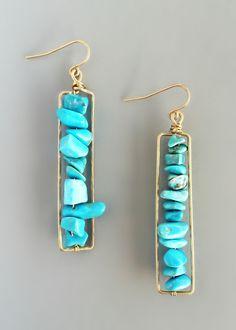 Turquoise Eliza Earrings – Pree Brulee