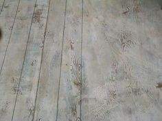 Plywood floor... Drew lines with carpenters pencil for individual boards                                                                                                                                                                                 More