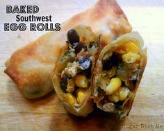 Yumm Yumm, going to make these! Baked Southwest Egg Rolls
