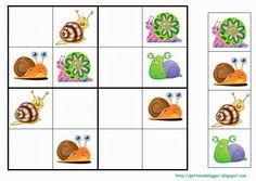 Un matí del mes d'abril en Jan, un dels petits de la meva classe de P3, de camí a l'escola es va trobar un cargol i el va portar a la classe... Clever Kids, Sudoku Puzzles, Writing Numbers, Bugs And Insects, Preschool Kindergarten, Kids Prints, Matching Games, Spring Crafts, Kids Education