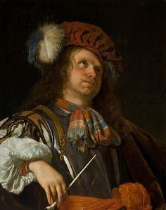 Frans van Mieris - Soldaat rookt een pijp
