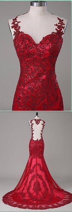 Mermaid Charming Lace Prom Dress,Long Prom Dresses,Charming Prom