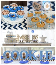 Cookie Monster themed birthday party Full of REALLY CUTE IDEAS via Kara's Party Ideas! full of decorating ideas, cakes, decor, desserts, cup...