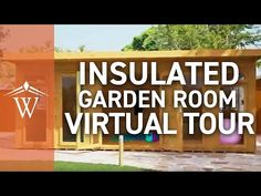 Buy Waltons 6 x Insulated Garden Room at Waltons Garden Buildings. UK made sheds, cabins and more. Free, fast delivery to most of UK Insulated Garden Room, Contemporary Garden Rooms, Garden Studio, Garden Spaces, Virtual Tour, Dream Garden, Dreaming Of You, Garden Buildings