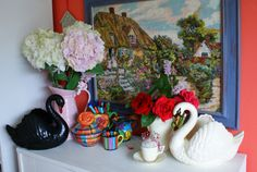 Dartmouth, Fabric Storage, Sewing Studio, Be Kind To Yourself, Swans, Pin Cushions, Coffee Cups, Art Deco, Mary