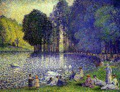 Henri-Edmond Cross - The Lake in the Bois de Boulogne