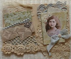 Mixed Media Fabric Collage | eBay