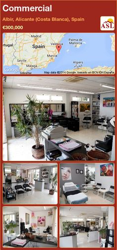 Commercial for Sale in Albir, Alicante (Costa Blanca), Spain - A Spanish Life Alicante, Murcia, Busy Street, Hairdresser, Terrace, Salons, Spanish, Commercial, Restaurant