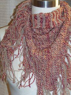 Bandit fringed scarf on Etsy, $75.00