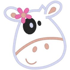 girly cow applique