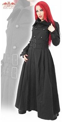 Gothic full length coat  Why are so many cool goth online shops in Europe?