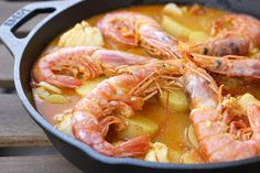 Get my traditional suquet de peix recipe, a delicious Catalan seafood stew with hake, shrimp, ground almonds and garlic.