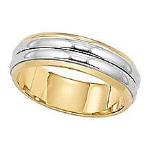 Lovely Two-Tone Gold Lieberfarb Wedding Band