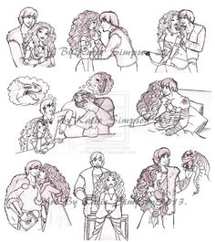 Hiccup and Merida doodles ! I love this :)