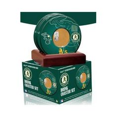 Oakland Athletics Coasters with Game Used Dirt (set of 4)
