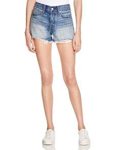 Levi's Wedgie Denim Shorts in Buena Vista Light