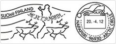 Arctic Circle's Special postmark from Santa Claus Main Post Office