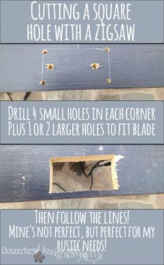 cutting square in wood http://countrydesignstyle.com #woodworkingtips #jigsawtips