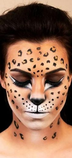 Animal print-enthusiasts can create this Halloween look with bronzer, white face paint, liquid eyeliner and smoky shadows. Click through to see 9 different ways you can be a cat this Halloween.