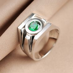 Top Quality Superhero Green Lantern Rings Band For Men Real 925 Sterling Silver Replica Movie Jewelry Christmas Birthday Gift